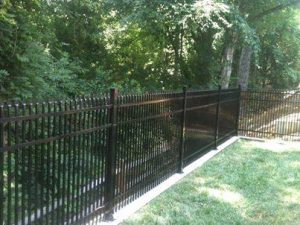 "Aluminum fence, Style A with 2"" double picket spacing"